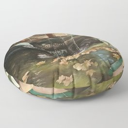 Andalusian garden of the house of the painter Sorolla in Madrid Floor Pillow