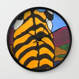 Stain glass Tiger Wall Clock