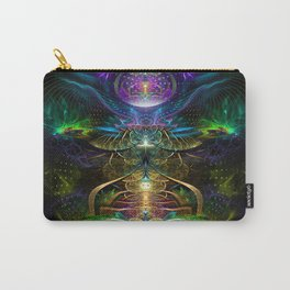 Neons - Fractal - Visionary - Manafold Art Carry-All Pouch