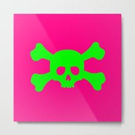 Toxic Skull Metal Print