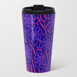 Flowers in blue Travel Mug