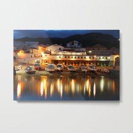 Harbour at dusk Metal Print