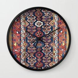 Kolyai  Antique South Kurdistan Persian Rug Print Wall Clock