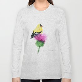 Little Goldfinch by Teresa Thompson Long Sleeve T-shirt