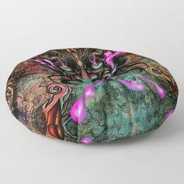 Japanese Dragon Mask Floor Pillow