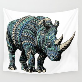 Rhinoceros (Color Version) Wall Tapestry