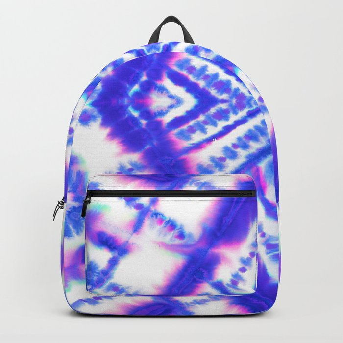 Dye Diamond Iridescent Blue Backpack