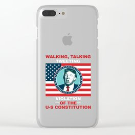 President Trump Clear iPhone Case