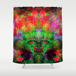 The Flower King Shower Curtain