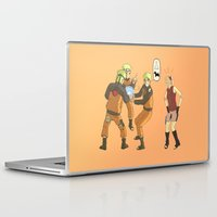 naruto Laptop & iPad Skins featuring Naruto Science by Solidus