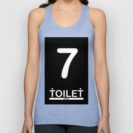 TOILET CLUB #7 Unisex Tank Top