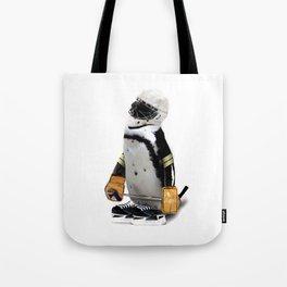 Little Mascot Hockey Player Penguin Tote Bag