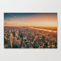 nyc Canvas Prints featuring NYC by Vivienne Gucwa