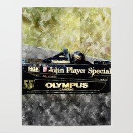 Mario Andretti on Lotus Poster