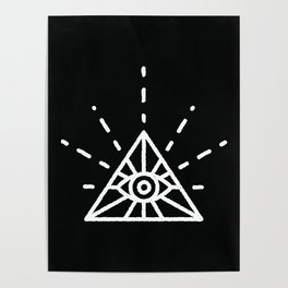 Minimal All Seeing Eye Poster