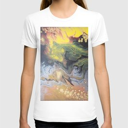 83 Explosion Yellow   Abstract Artwork T-shirt