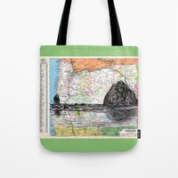 oregon Tote Bags featuring Oregon by Ursula Rodgers