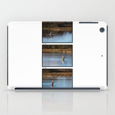 Gone Fishing Triptych White iPad Case