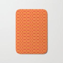 Yellow Orange Pattern Bath Mat