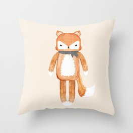 Mr. Fox Throw Pillow