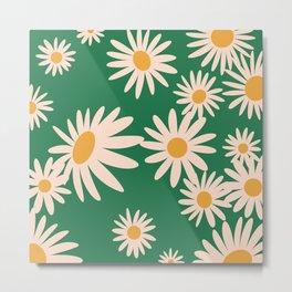 Retro Daisy pattern  Metal Print