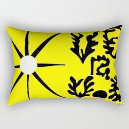 Henri Matisse - Sun and Earth portrait from the Cut-Outs Collection Rectangular Pillow