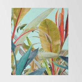 Tropical Jungle Throw Blanket