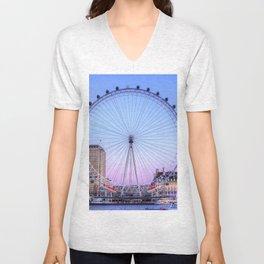 The London Eye, London Unisex V-Neck