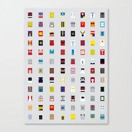 Minimalism robots (Good natured / Defenders) Canvas Print