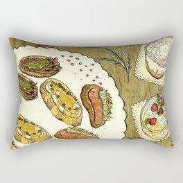 Holiday Hors D'oeuvre Rectangular Pillow