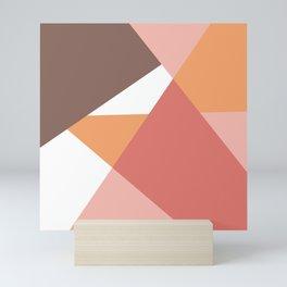 Modern geometric background earth colors Mini Art Print