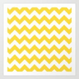 Yellow Zigzag Art Print