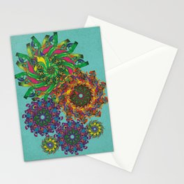 Swirls Abstract - Teal Stationery Cards