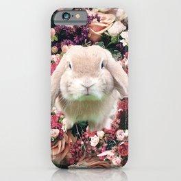 Cute Floral Bunny Rabbit Flower iPhone Case