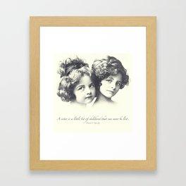 Sisters Framed Art Print