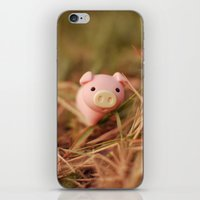 pig iPhone & iPod Skins featuring Pig by Natália Viana ♥
