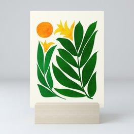 Mid Century Emerald Garden / Abstract Botanical Mini Art Print