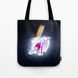 80s Unicorn Dance Tote Bag