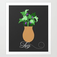fig Art Prints featuring fig by Little Lost Garden
