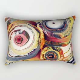 Yard Sale (Colorful Circles) Rectangular Pillow