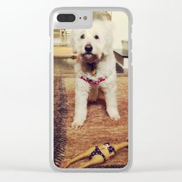 Goldendoodle Dog Clear iPhone Case