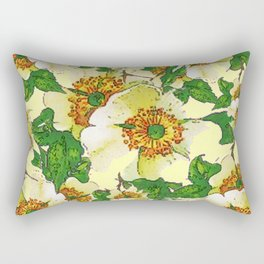 ABSTRACTED APPLE BLOSSOMS PATTERN Rectangular Pillow