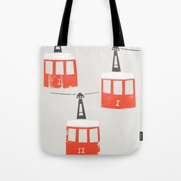 Barcelona Cable Cars Tote Bag