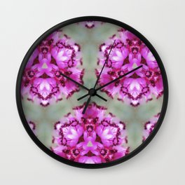 Mint Pink Prism Original Artwork by Rachael Rice Wall Clock