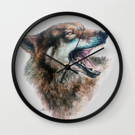 Wolf smile Wall Clock