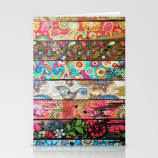 Paisley Planks Stationery Cards