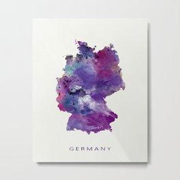 Germany Map Metal Print