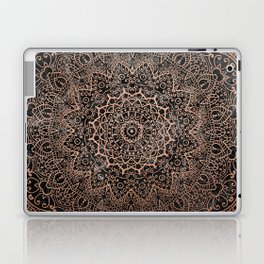 Mandala - rose gold and black marble 3 Laptop & iPad Skin