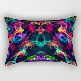 crazy smoke Rectangular Pillow