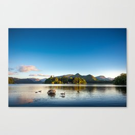Ducks on Lake Derewentwater near Keswick, England Canvas Print